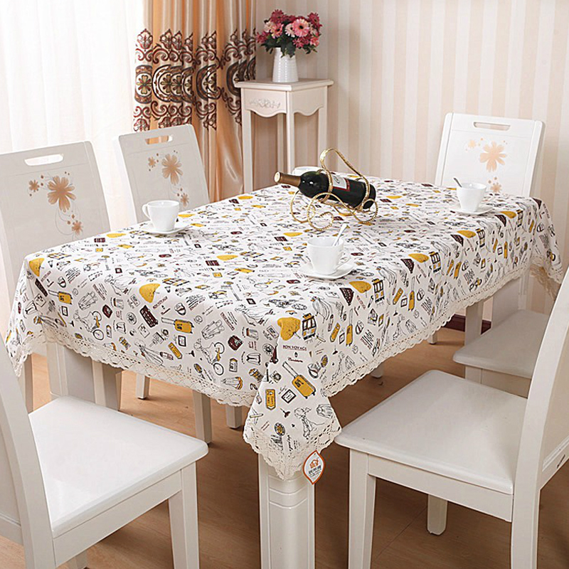 茶几布欧式棉麻蕾丝花边餐桌布台布 餐桌垫餐桌罩其他品牌型号