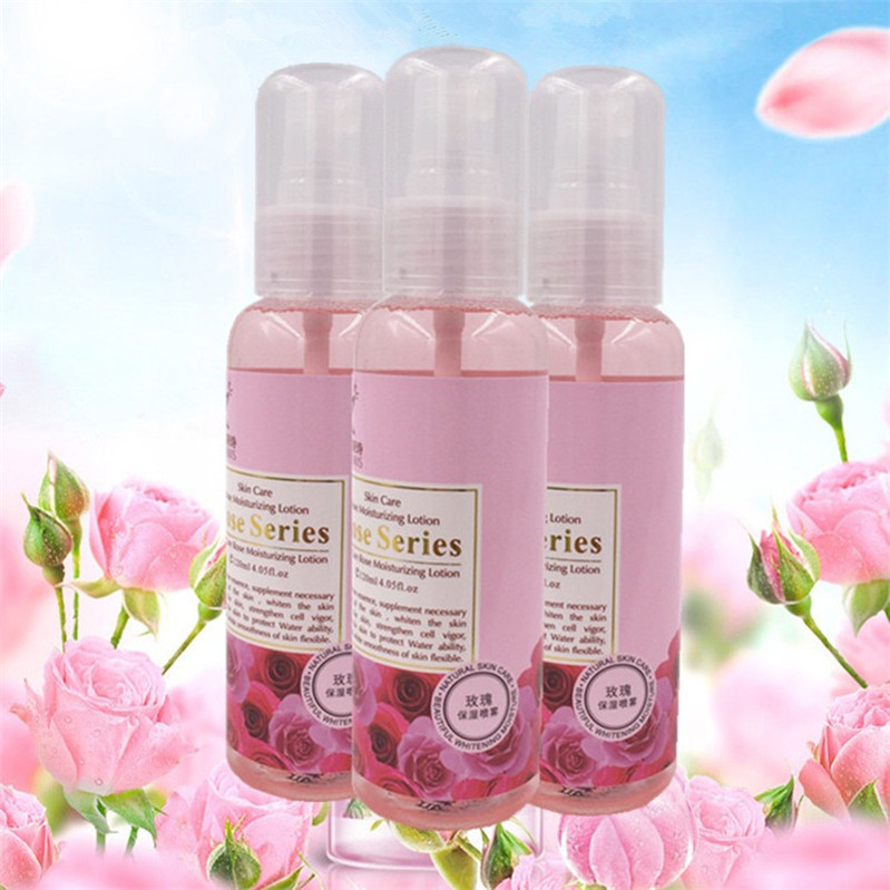 Rose Moisturizing Spray 120ml water supplement toner lotion rose water softening rose pure dew oil control relieve
