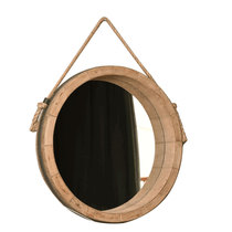 Shanson American make old mirror simple hemp rope bathroom Nordic ins makeup round Ikea mirror wall hanging decoration
