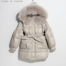 【维也娜高端原创】2020 新款冬季收腰大毛领 羽绒服BBRY-20037