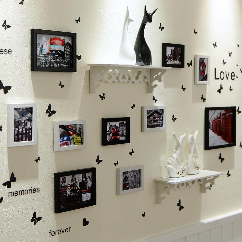 Фото стена фоторамка стена одна сторона стена простой современный стена на фоторамка стена творческий личность сборка украшения фото стена