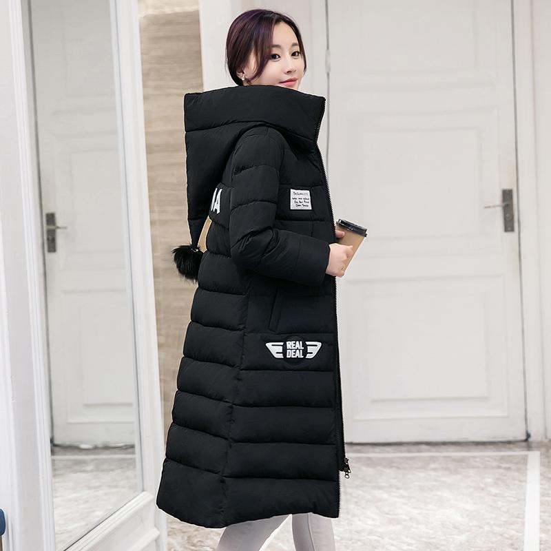 Каждый день специальное предложение сезон уборки специальное предложение царство хань тонкий хлопок женская одежда пальто сгущаться мода студент большой двор hairball