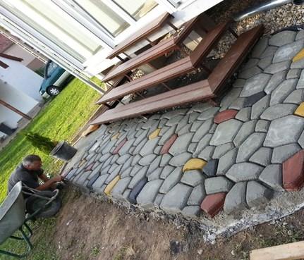 装饰地坪模型工艺建材成材料地砖创意筑造水泥塑料混凝土花园别墅