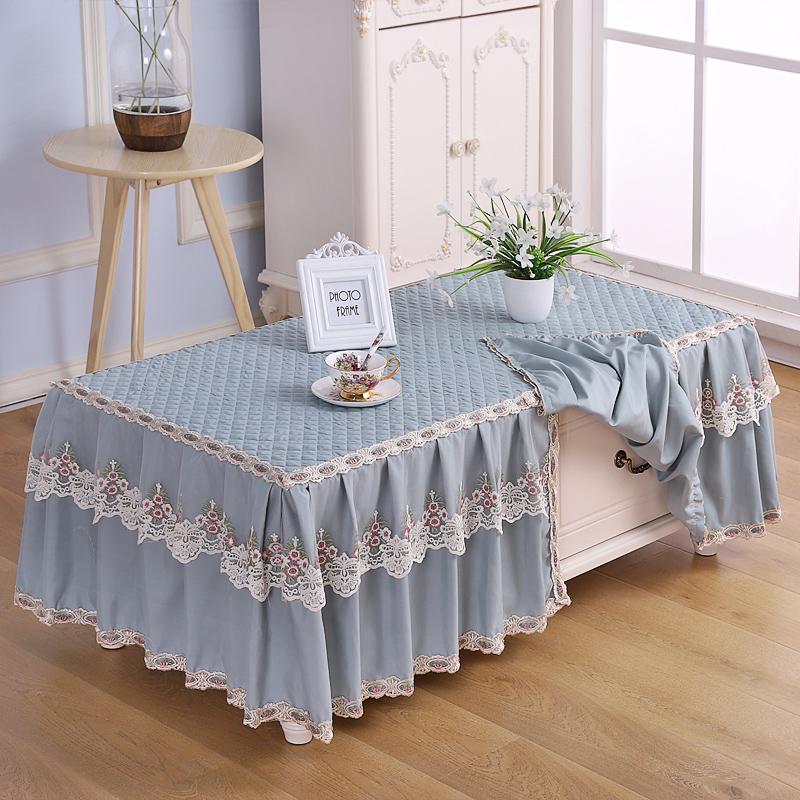 (用1元券)茶几罩套长方形客厅家用全包盖巾电视柜垫防尘罩茶几桌布布艺蕾丝