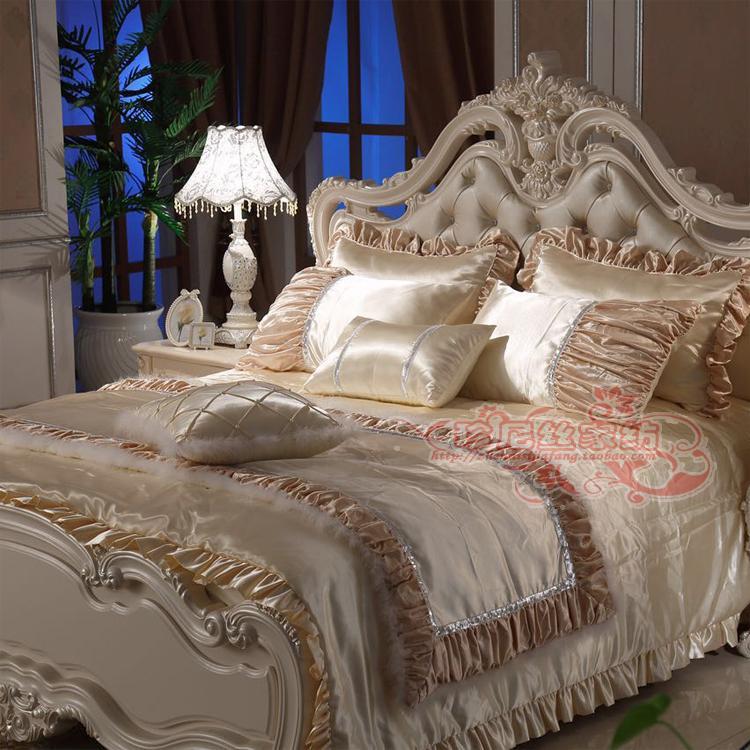 Model room bedding multi piece suit European French four piece luxury villa high grade model room bedding