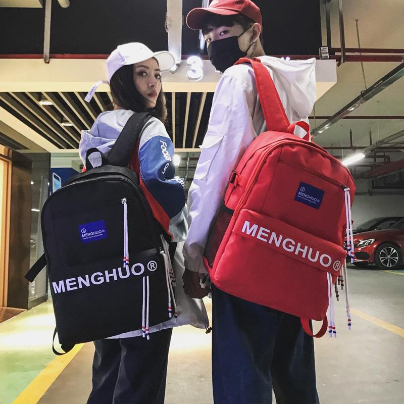 书包女韩版15.6寸大容量电脑背包原宿ulzzang 高中学生校园双肩包