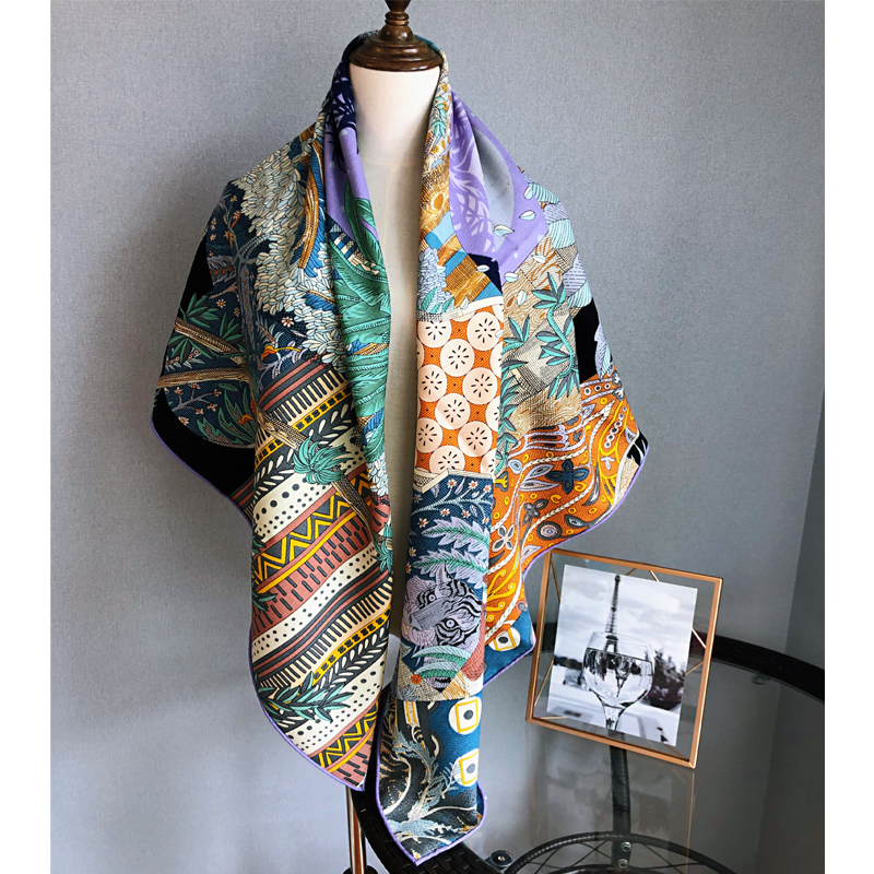 Dream silk cashmere scarf for womens high-end versatile shawl 140cm large square scarves