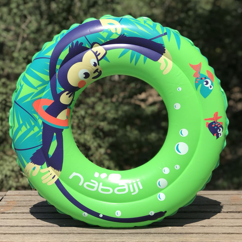 迪卡侬儿童游泳圈腋下双层加厚浮圈2-5岁宝宝学游泳救生圈NABAJI