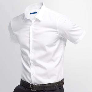 男短袖商务正装韩版修身夏季白衬衫
