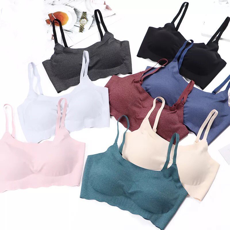 Thin trackless sports underwear with no steel ring to collect breast, bra, bra, sleeping running, beauty back wrapping