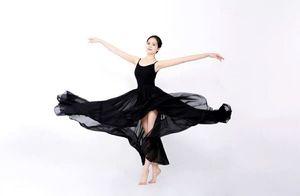 舞蹈表演服装中国风一片式长裙拍照裙芭蕾舞练习裙古典舞裙大摆