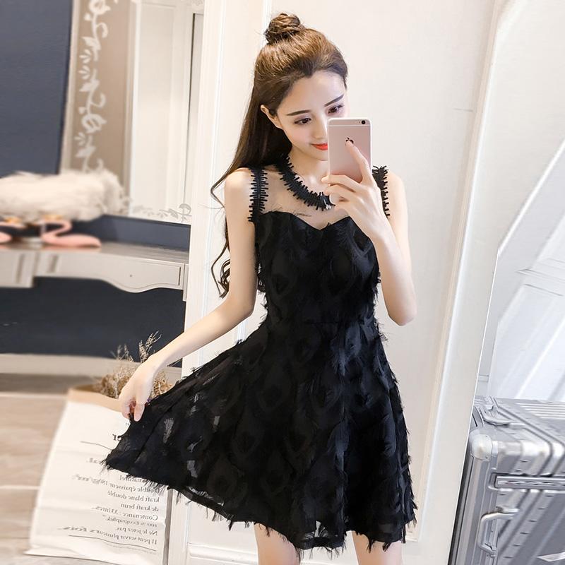 2018新款夏季韩版显瘦连衣裙女士潮流性感气质A字裙时尚休闲裙子