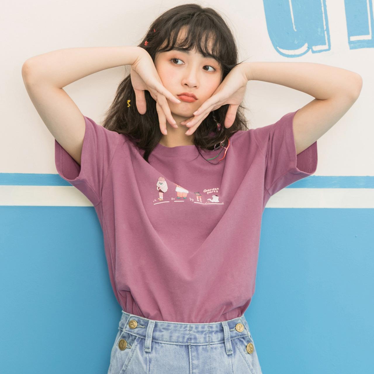 开学季古着短袖t恤女日系夏装2019新款原宿风宽松少女感上衣学生