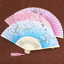 扇子折扇中国风女式流苏古风折叠随身汉服古典舞蹈扇广告扇子定制