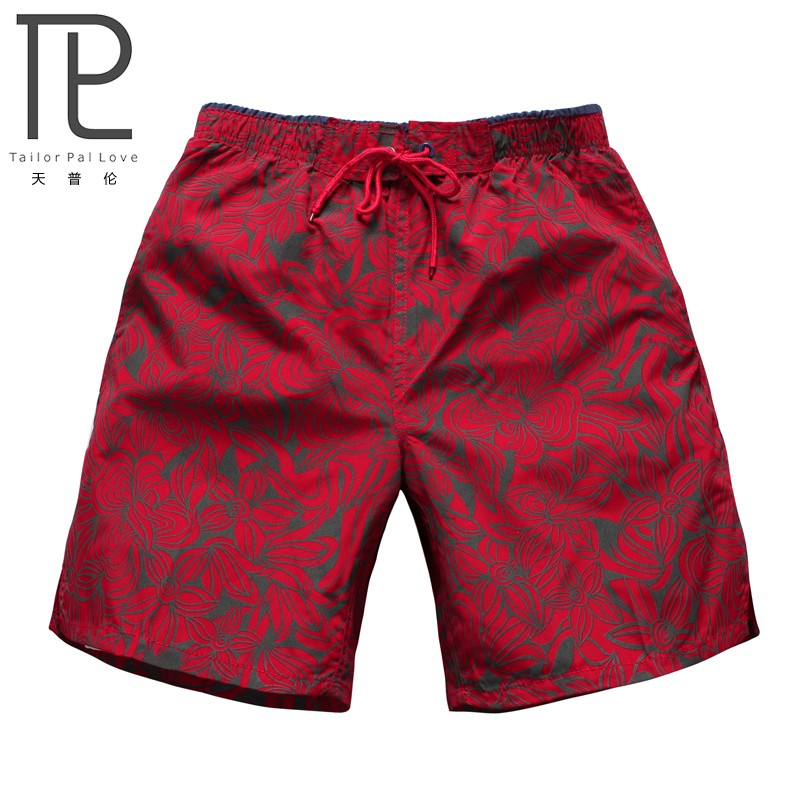 Swimsuits mens 5-point Beach Resort thin flat angle loose quick dry printed shorts casual large beach pants