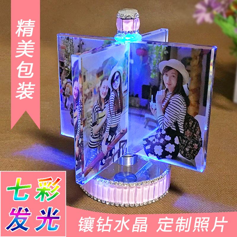 Кристалл куб ветряная мельница DIY фото персональные настройки фото производство вращение качели украшение творческий день рождения подарок