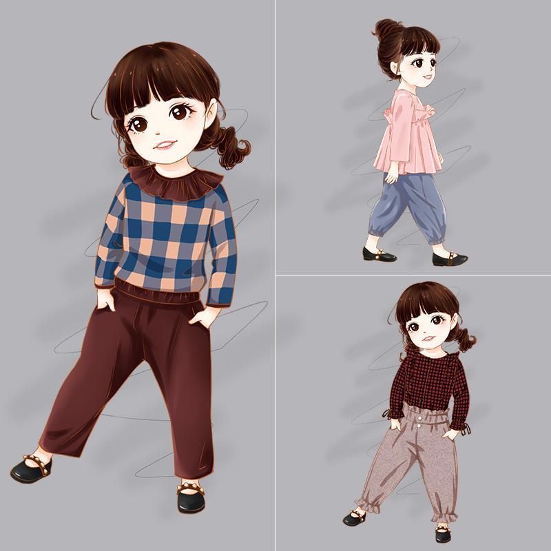 女小童2018新款时尚洋气女童衣服女宝宝秋装套装0一1-2-3岁韩版潮