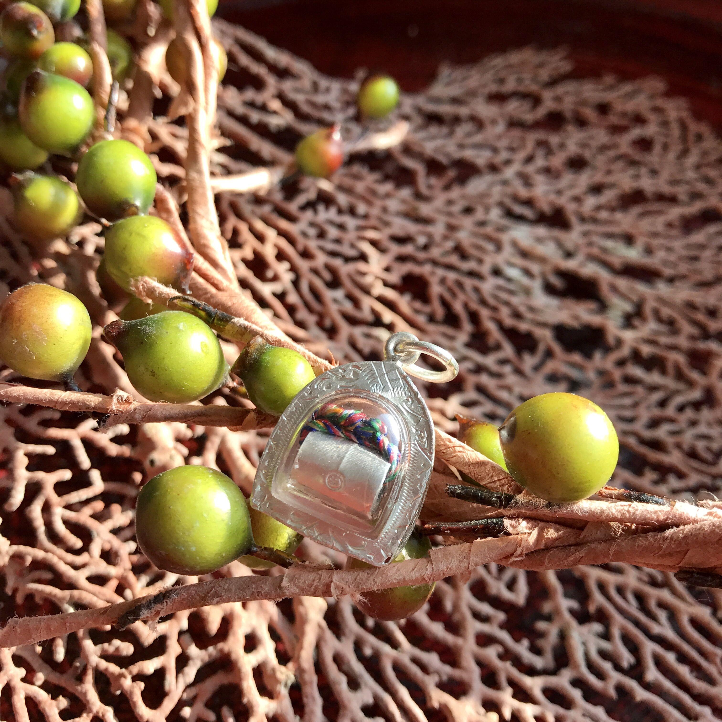 泰国佛牌正品龙婆马哈苏拉萨符管纯银塔固招财保平安包邮贝叶泰佛