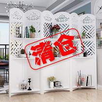 歐式屏風隔斷客廳折疊移動裝飾網紅臥室遮擋家用擋煞墻玄關置物架