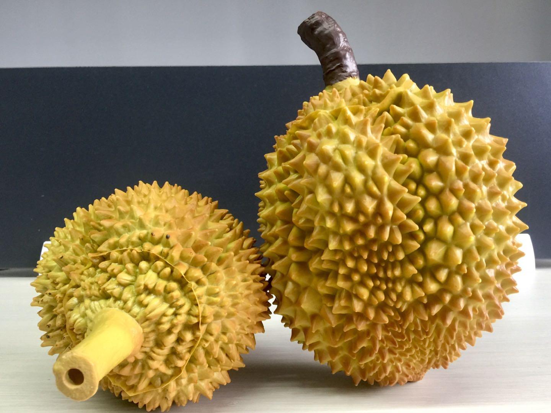 仿真榴莲模型假榴莲哈密瓜水果模型大黄金枕榴莲摄影道具水果摆设