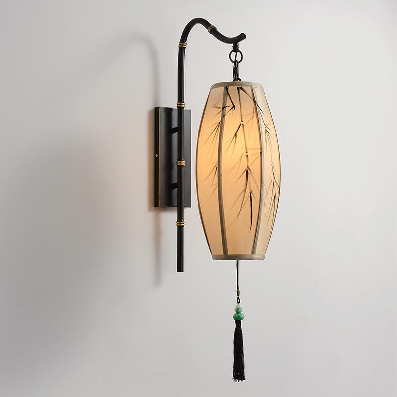 新中式壁灯现代客厅床头卧室复古灯笼设计师中国风禅意仿古壁挂灯