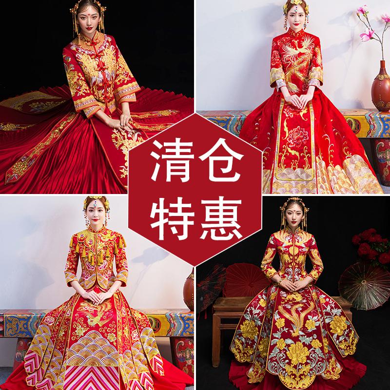 ショー禾服2019新型花嫁結婚式チャイナドレスのショーと女性龍鳳衣の嫁入り服の清倉服