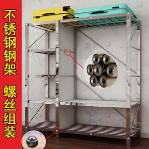 簡易衣柜不銹鋼鋼架加厚鋼管加粗加固布藝雙人組裝家用收納布衣柜