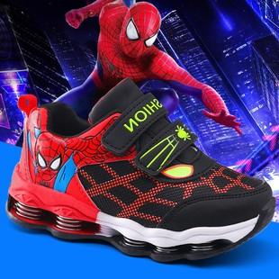 儿童蜘蛛侠童鞋男童鞋子2019年秋冬季新款韩版中大童运动鞋休闲鞋