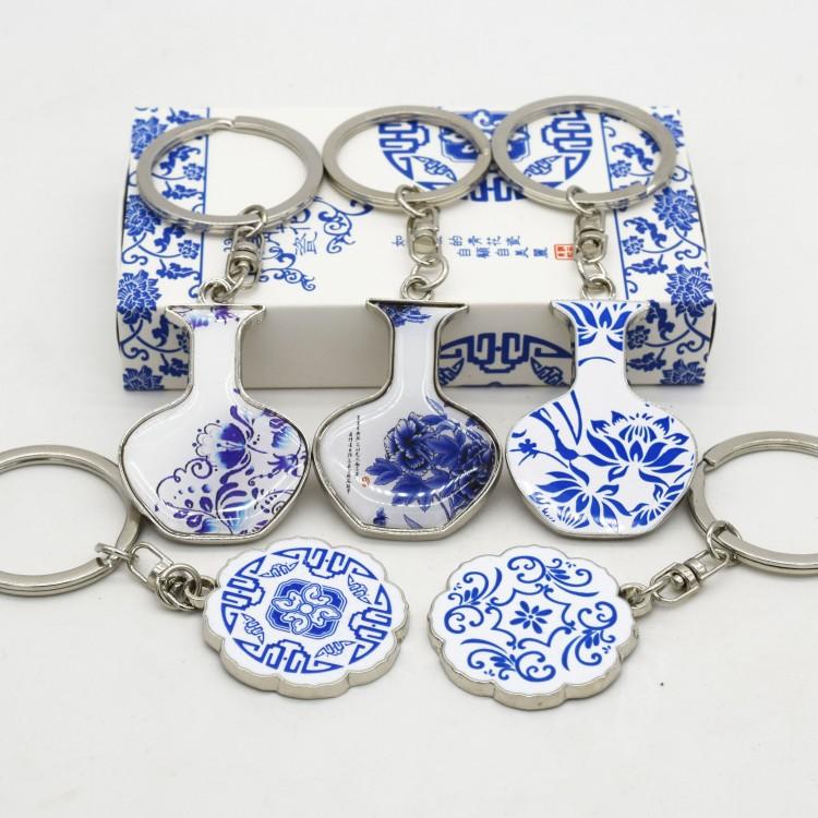 Китайский ветер фарфор брелок facebook ключ цепи характеристика ремесла статья бизнес подарок из страна подарок отвезти старый иностранных