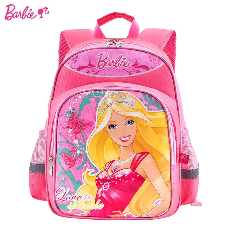 芭比書包小學生女童兒童1~3一三年級女生 女孩公主雙肩背包7歲