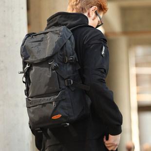 超大容量双肩包男行李旅游背包简约休闲书包户外轻便登山女旅行包