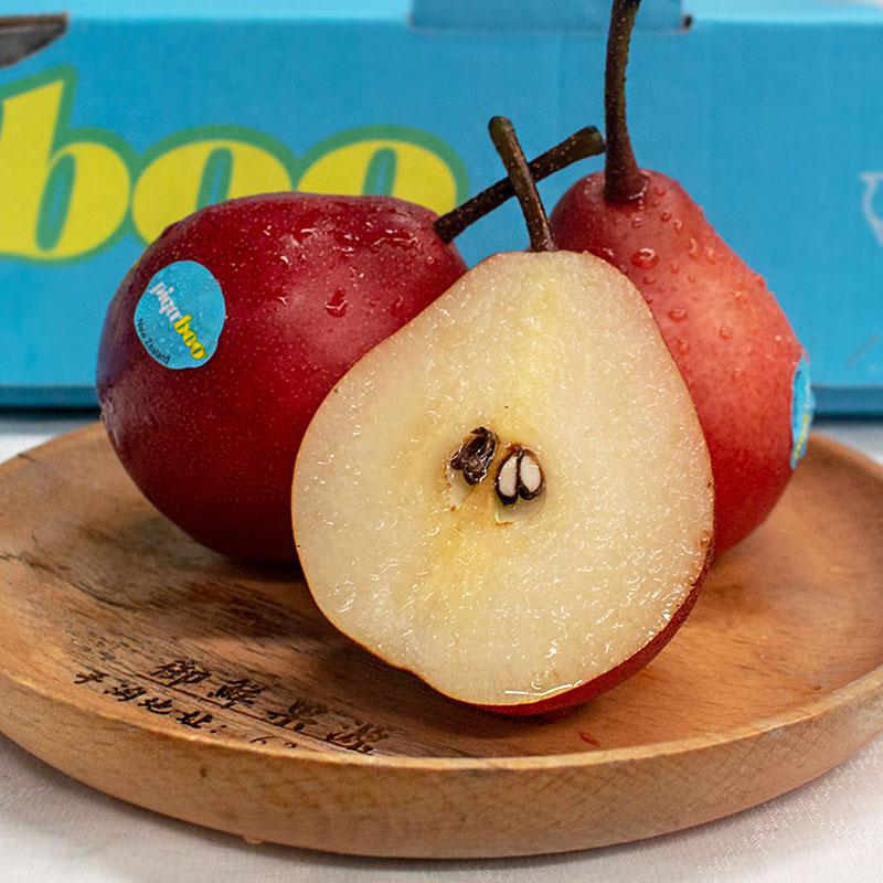 新西兰piqaboo红啤梨新鲜水果清甜多汁3斤装红宝石梨蜜梨红皮梨脆