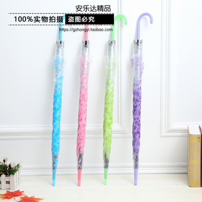 日系櫻花透明傘 8K長柄自動塑料透明雨傘 日本PVC創意環保禮品傘
