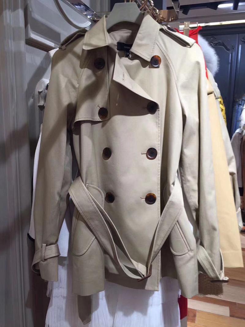 2020春装新款潮欧时力代中长款双排扣腰带风衣外套女1RH1056650