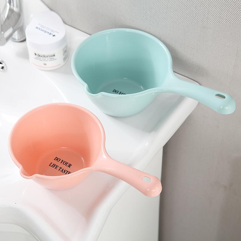 Утепленный [塑料水瓢厨房长柄打水勺水舀舀子] детские детские [洗头杯冲水洗澡瓢]
