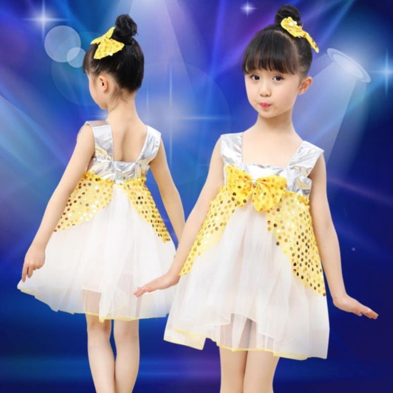 幼儿六一表演礼服蓬蓬纱裙洋气舞蹈集体团体宽松比赛春装服饰活动