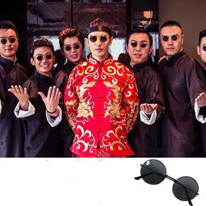 2020新款圆形偏光复古伴郎墨镜男潮吴亦凡同款太阳眼镜圆框太子镜