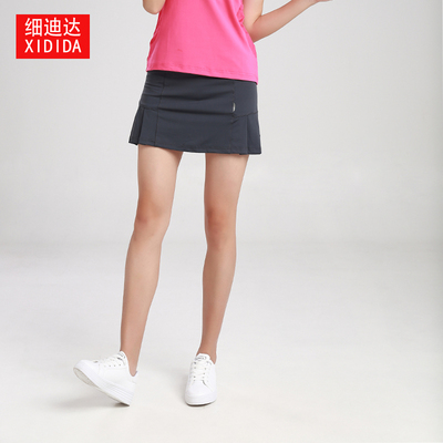 Summer new sports hakama women's quick-drying breathable badminton tennis culottes for women running fake two-piece skirts
