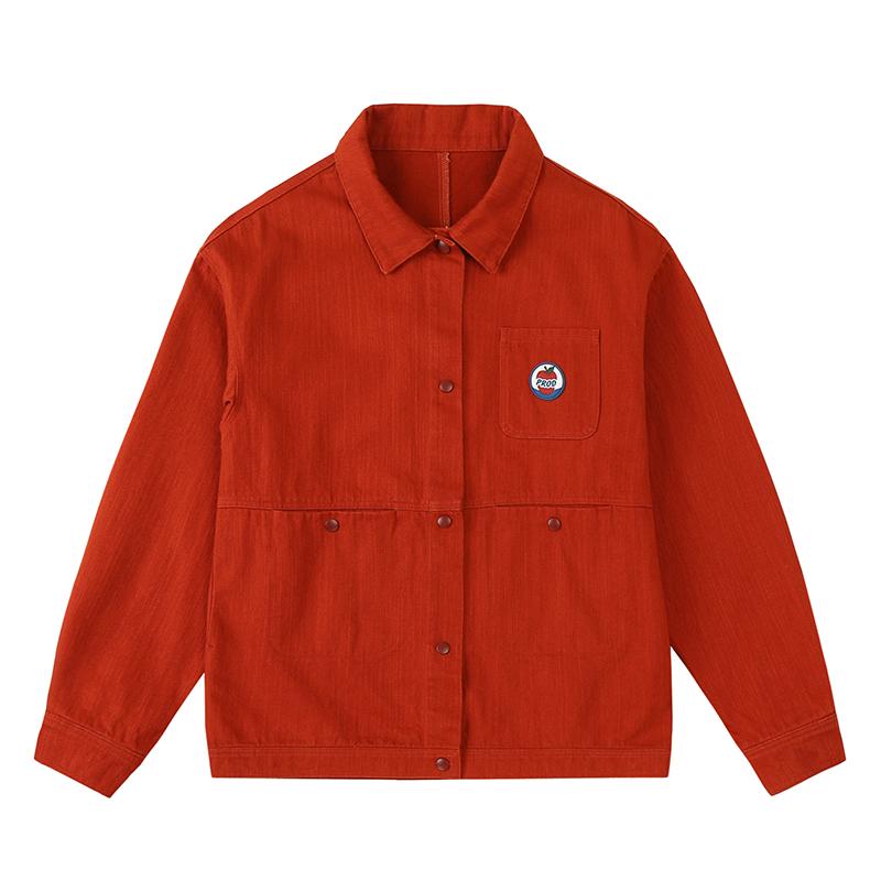 PROD独立设计 早秋时髦工装外套女宽松 牛仔夹克棉薄款百搭外套
