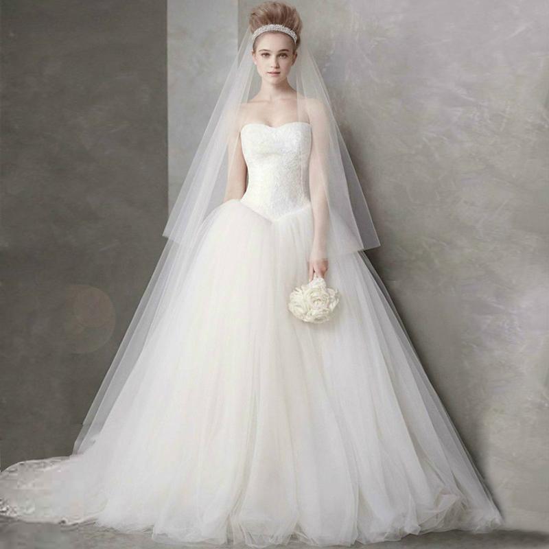 轻婚纱礼服2018新款新娘结婚简约抹胸显瘦齐地女白色拖尾韩版公主