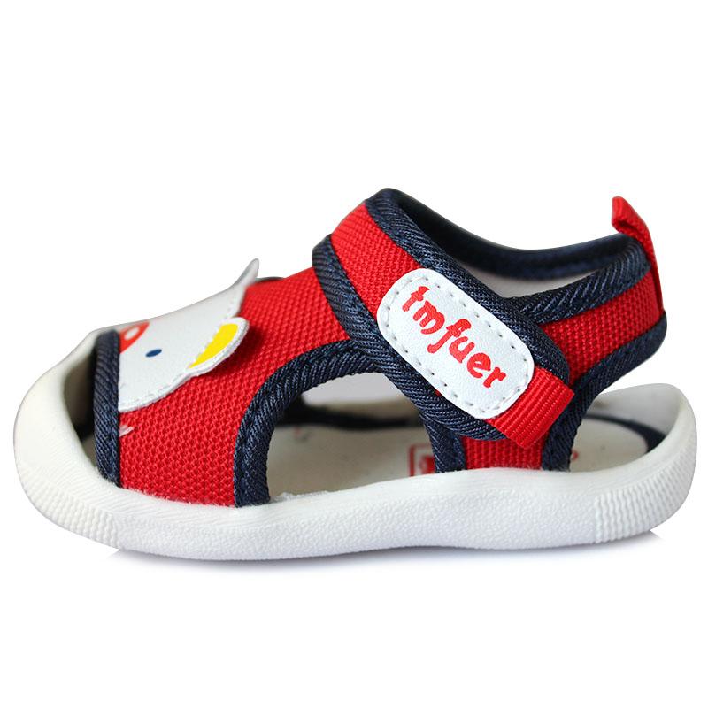 托米福儿凉鞋夏季新网布面宝宝沙滩鞋1-2岁卡通女童男童鞋子F003
