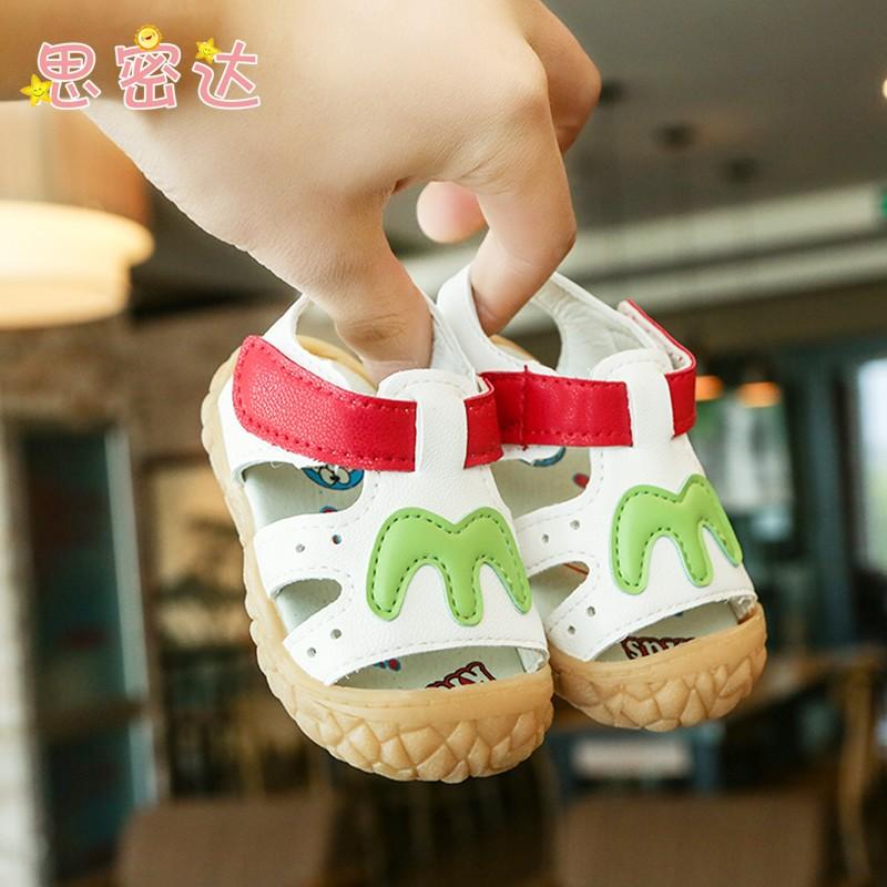 兒童涼鞋寶寶鞋子男童鞋女童鞋夏季包頭軟底防滑小童鞋嬰兒學步鞋