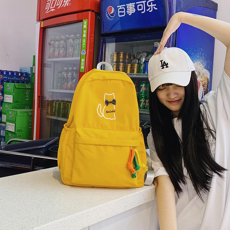 ins风书包女学生韩版原宿ulzzang初高中大学生双肩包森系校园背包