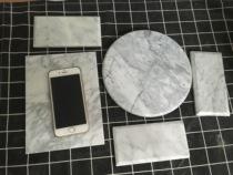 新款纯天然大理石花岗岩苹果8智能手机ipad快速散热垫降温板包邮