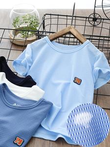 男童网眼T恤儿童短袖体恤男孩网眼衫中大童半袖衫2020夏季新款