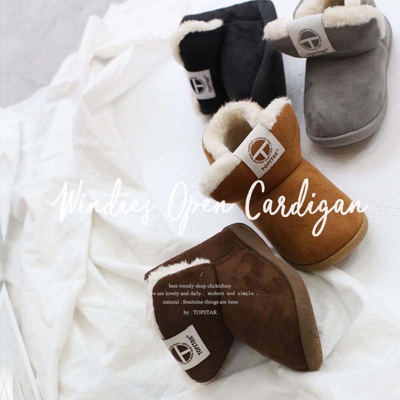 TOPSTAR儿童雪地靴韩版棉鞋加绒保暖儿童棉鞋INS潮童厚绒软底童鞋