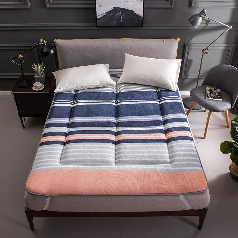 加厚法莱绒榻榻米床垫床褥子垫被珊瑚绒法兰绒双人1.8m床1.5米1.2限时2件3折