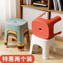 小凳子塑料板凳家用儿童凳卡通加厚防滑踩脚胶凳脚踏宝宝矮凳洗澡