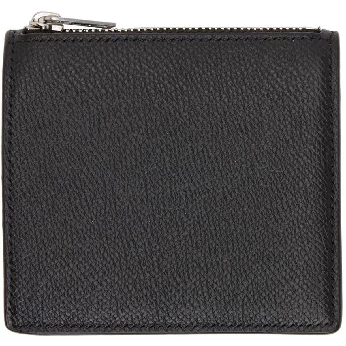 代购Maison Margiela 黑色拉链双折钱包男2021新款奢侈品