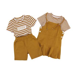 炸街情侶裝夏裝2020新款ins潮流法式港風衣服秋季裙子兩件一套裝